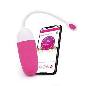 Vibrador Recarregável com Controle por Aplicativo - Vini Pink - Magic Motion