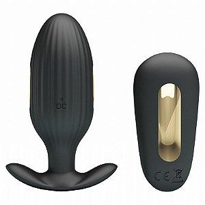 Plug Anal Recarregável A prova D'água  - Vibração + Choque - Royal Pleasure