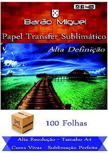 PAPEL SUBLIMÁTICO - FUNDO AZUL, PACOTE COM 100 FOLHAS A4