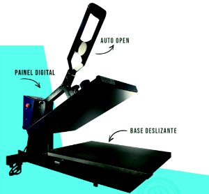 Prensa Plana 40x50 Auto Open (Abertura Automática) Base Deslizante - 1 Ano De Garantia