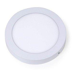 Plafon Led 12W de Sobrepor Slim Redondo Ø17cm Completo - Luz Branca Fria e Quente