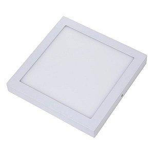 Plafon Led 24W de Sobrepor Slim Quadrado 30x30cm Completo - Luz Branca Fria e Quente