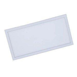 Plafon Led 30W de Sobrepor Slim Retangular 30x60cm Completo - Luz Branca Fria e Quente
