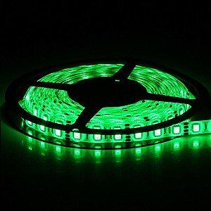 Fita Led 5050 14,4W/M com Silicone Uso Externo IP65 - Rolo 5 Metros - Luz Verde