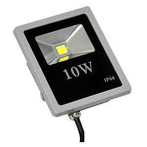 Refletor Led 10W Slim Cinza IP66 - Luz Branca Fria