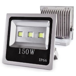 Refletor Led 150W Slim Cinza IP66 - Luz Branca Fria