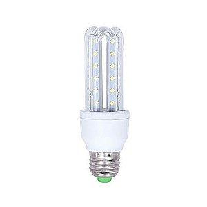 Lâmpada Compacta Led 3U 9W E-27 - Luz Branca Fria e Quente