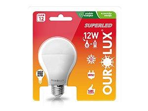 Lâmpada Led Bulbo 12W E27 - Luz Branca Fria e Quente