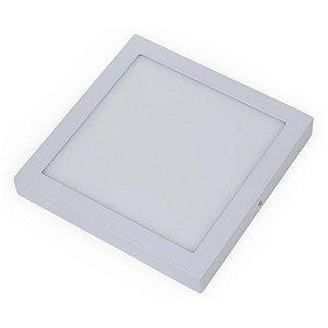 Plafon Led 32W de Sobrepor Slim Quadrado 30x30cm Completo - Luz Branca Fria