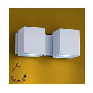 Arandela Led Foco Duplo Rotativo uso Interno e Externo - Dicróica GU10 - Cor Branca ou Preta