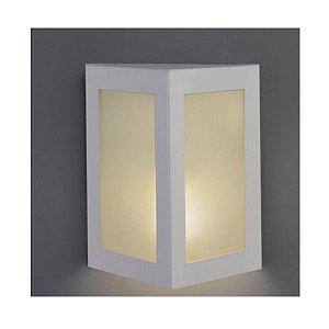 Arandela Led Triangular com 2 Vidros uso Interno e Externo E27 - Cores Branca ou Preta