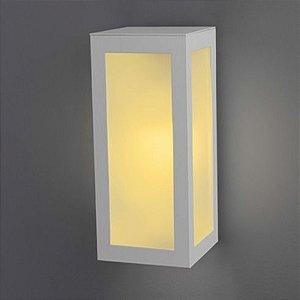 Arandela Led Retangular com 3 Vidros uso Interno e Externo E27 - Cores Branca, Preta ou Marrom