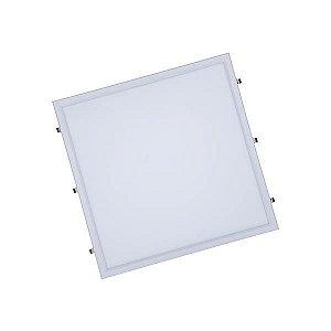 Luminária Led 60W de Embutir Slim Quadrada 62x62cm Completa - Luz Branca Fria e Quente