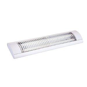 Luminária Tubular Led 18W Multiuso Completa de Sobrepor 60cm - Luz Branca Fria