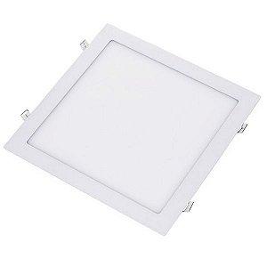 Plafon Led 30W de Embutir Slim Quadrado 30x30cm Completo - Luz Branca Fria