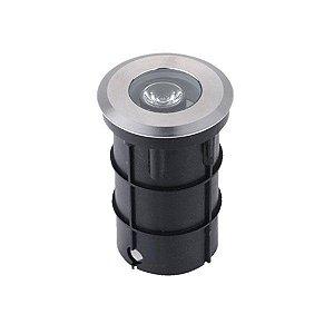 Balizador Led de Solo 1W Redondo IP67 - Luz Branca Fria e Quente