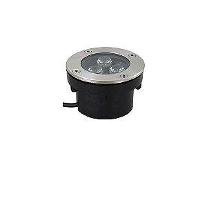 Balizador Led de Solo 3W Redondo IP67 - Luz Branca Fria e Quente