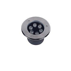 Balizador Led de Solo 6W Redondo IP67 - Luz Branca Fria e Quente