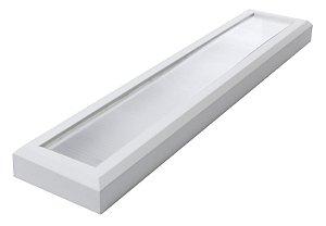 Luminária Led 17W de Sobrepor Retangular 12x60cm Completa - Luz Branca Fria e Neutra