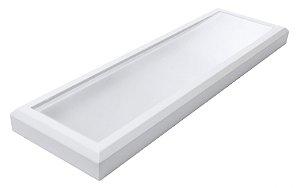Luminária Led 34W de Sobrepor Retangular 18x60cm Completa - Luz Branca Fria, Neutra e Quente