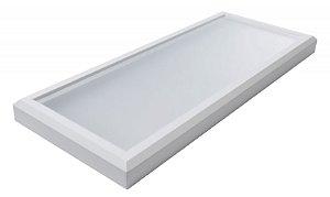 Luminária Led 51W de Sobrepor Retangular 24x60cm Completa - Luz Branca Fria, Neutra e Quente