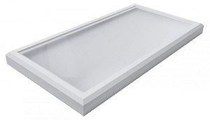 Luminária Led 68W de Sobrepor Retangular 30x60cm Completa - Luz Branca Fria, Neutra e Quente