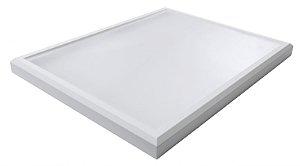 Luminária Led 102W de Sobrepor Retangular 45x60cm Completa - Luz Branca Fria e Neutra