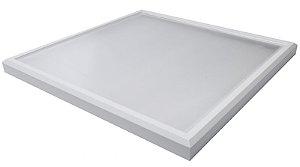 Luminária Led 136W de Sobrepor Quadrada 60x60cm Completa - Luz Branca Fria, Neutra e Quente