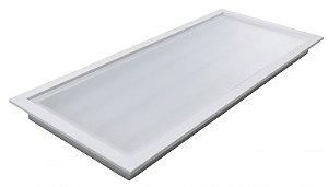 Luminária Led 51W de Embutir Retangular 27x62cm Completa - Luz Branca Fria, Neutra e Quente