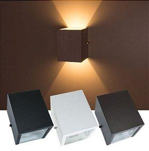 Arandela Led 3W G9 Foco Duplo uso Interno e Externo - Cor Branca, Preta ou Marrom