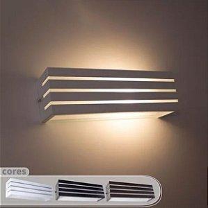 Arandela Led 10W E27 Frisada uso Interno e Externo - Cor Branca, Preta ou Marrom