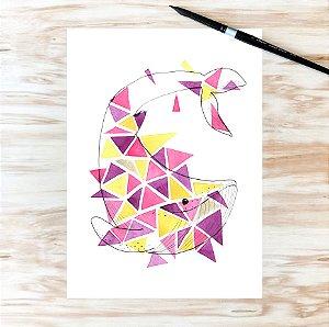 baleia geométrica A4