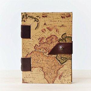 Caderno Mapa Antigo