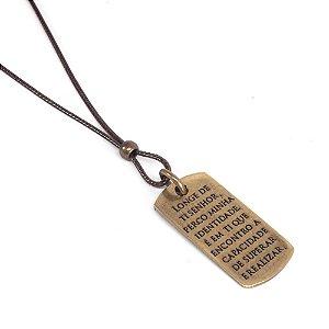 Colar Masculino Medalha Gospel