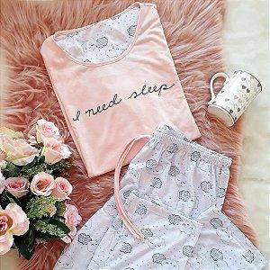 Pijama Inverno Nuvem Rosa