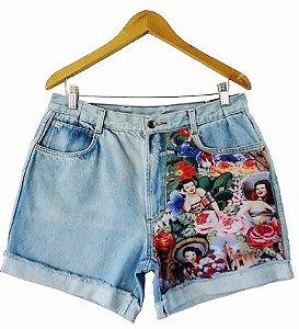 Hot Pants - cintura alta -  Carmem Miranda