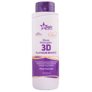 Matizador Gloss 3D Platinum Branco 500ml - Magic Color