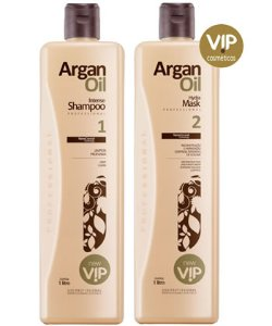 Kit Escova Progressiva Argan Oil 1L VIP