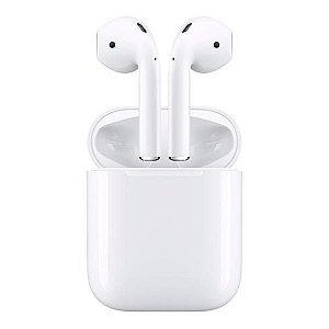 Fone de Ouvido Sem Fio Apple AirPods MMEF2BE/A com Chip W1 - Branco