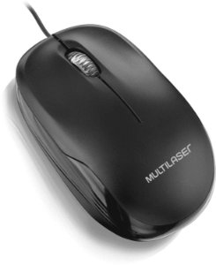 Mouse Box Optico Com Fio Preto Usb Multilaser MO255