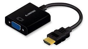 Cabo Conversor HDMI para VGA + Áudio