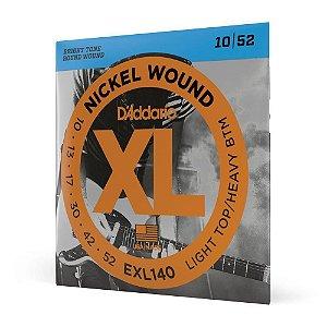 Encordoamento Daddario 010 052 híbrida Guitarra Exl140 corda