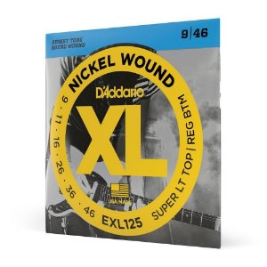 Encordoamento Daddario 09 046 híbrida Guitarra Exl125 corda