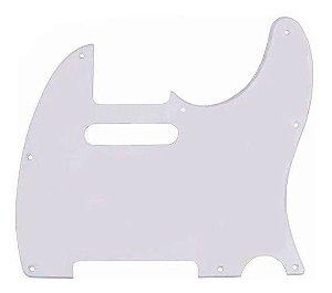 Escudo guitarra TELE branco 1 camada TELECASTER 8 parafusos