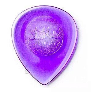 1 Palheta guitarra Big Stubby 2 mm Dunlop 475R 2.0 roxa
