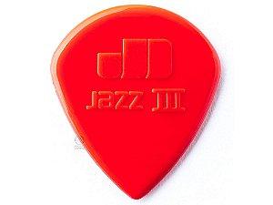 1 Palheta Jazz III Vermelha Dunlop 47R3N jazz3 guitarra USA