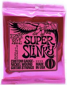 Encordoamento Ernie Ball 09 042 guitarra P02223 Super Slink