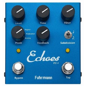 Pedal Guitarra Fuhrmann Echoes tap delay Ec01 tap tempo