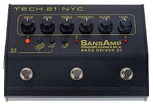 Pedal Tech 21 SansAmp Bass Driver D.I. Progammable 3 Ch PBDR
