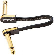 Cabo p/ pedal EBS PG10 Premium Gold- 10cm Flat Patch - PG-10
